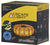 Escape Light oplaadbaar oranje Led, oranje buitenkant_