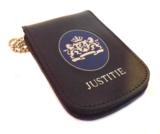 """Legitimatie houder met halsketting Rijks """"JUSTITIE""""_"""