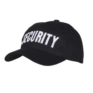 Pet / cap zwart Security