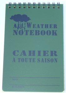 All-weather opschrijfboekje klein