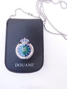 Legitimatie houder met halsketting Douane