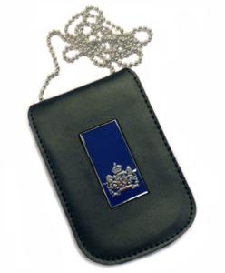 Legitimatie houder met halsketting Rijks blauw