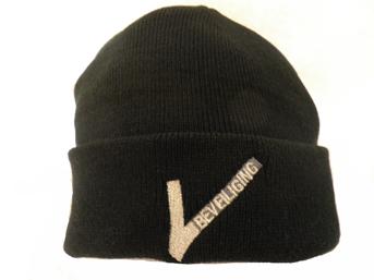 """Commando muts zwart met """"V""""Beveiliging logo"""