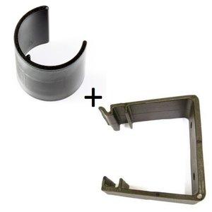 Deurklem / Deurstopper Blanco + houder COMBI DEAL