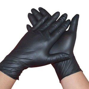 Nitril latex handschoenen poedervrij Zwart 100 stuks (50 paar) OP=OP