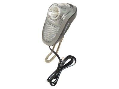 Koplamp LED (naaf)dynamo 10 lux aan/uit