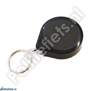 Legitimatie katrol 32mm met clip, 90cm kabel en sleutelring