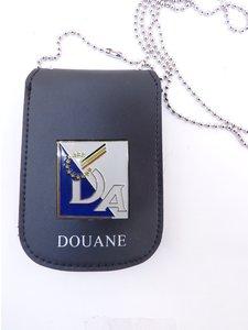 Legitimatie houder met halsketting Douane België